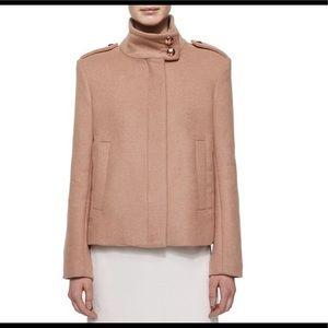 See by chloe rose brick tan beige funnel coat